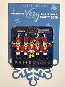 Disney 2018 Mickey Merry Christmas Party Passholder Donald And Toy Solders Pin New