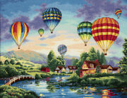 Gold Collection Balloon Glow Counted Cross Stitch Kit-16x12 18 Count, Pk 1