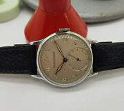 Rare 1940and039s Ww Ii Jaeger-lecoultre Silver Dial Military Manand039s Watch