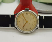 Rare 1940and039s Ww Ii Jaeger-lecoultre Silver Dial Manual Wind Military Manand039s Watch