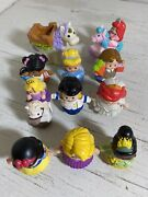 Fisher Price Little People Disney Princess Figures Toy Lot Ariel, Snow White