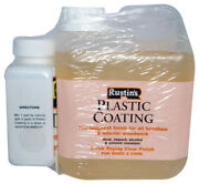 Rustins Plastic Coating Gloss And Hardener - 2 Part Wood Lacquer Furniture Floor