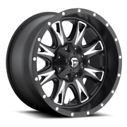 4 18x10 Fuel Matte Black And Milled Throttle Wheels 8x170 For 03-19 F-250 F-350
