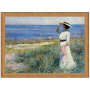 Design Toscano Looking Out To Sea 1910 Canvas Replica Painting Grande