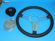 New 15 Leather Steering Wheel And Adaptor For Mgb 1977-1980 Moto Lita