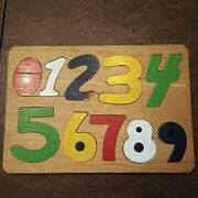 Vintage Hand Made Wood Puzzle Child's Game Toy