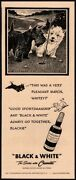 1949 Black And White Whiskey - Cute Scottish Terrier And Westie Dogs Vintage Ad