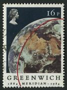 Sg1254ea 1984 Greenwich Meridian 16p Error Black Printing Doubled With