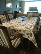 Ethan Allen Adison Dining Chairs 8 Total. Pre-owned Excellent. Striped. Blue.
