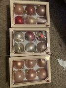 Christmas By Krebs Assorted Lot Of 18 Ornaments - 3 Boxes