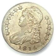 1814 Capped Bust Half Dollar 50c Coin - Certified Icg Ms62 Bu - 3,310 Value