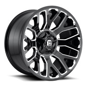 4 20x9 Fuel Gloss Black And Milled Warrior Wheel 8x170 For 03-09 Ford F250 F350