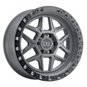 Black Rhino Kelso 18x9 5x127 Et-18 Gray W/blk Edge And Blk Bolts Qty Of 4