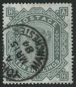 Sg135 10/- Greenish Grey Ah Very Fine Used With Manchester Cds
