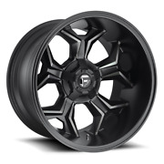 4 20x9 Fuel Black And Machined Avenger Wheels 5x114.3 5x127 For Ford Jeep Gm