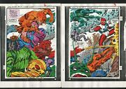 New Gods 9 Production Art Hand Colored Signed Jack Kirby A Tollin Coa Pg 2/3