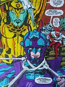 New Gods 9 Production Art Hand Colored Signed Jack Kirby A Tollin Coa Pg 19