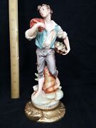 Capdimonte Andrea Porcelain Figurines Made In Japan Hand Painted