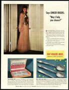 1940 1847 Rogers Bros Silverplate - Actress Ginger Rogers - Original Vintage Ad