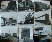 Lot Of 9 Candnw Railroad Pictures Photos Black White Chicago Northwest 8x10
