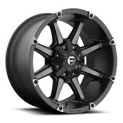 4 20x10 Fuel Black And Machined Coupler Wheels 5x114.3 5x127 For Ford Jeep Gm