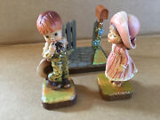 Anri Kiss Me And A Little Bashful Club Collectible Valentine + Display Italy Rare