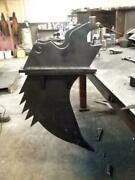 31 Inches Long Mini Excavator Ripper/saw 1 Tine Ar400 Steel Overall 40and039and039