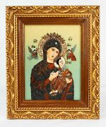 Madonna And Child Ducci Gemstone Artwork, 8x6 Inch Limited Painting Hand Made
