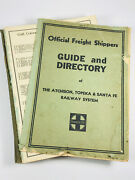 1934 Santa Fe Atchinson Topeka Railroad Freight Shippers Guide Directory Wow