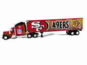 Nfl San Francisco 49ers 180 Diecast Collectable Truck -tractor Trailer Toy