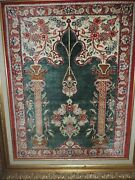 Handmade Silk Rug In Picture Frame