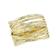 1 Ct Round Cut Simulated Solid 14k Yellow Gold Wire Ring