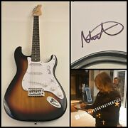Gfa The Alarm Singer Mike Peters Signed Electric Guitar Proof M2 Coa