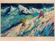 Leroy Neiman Downers Hand Signed Limited Serigraph Sports Ski Art