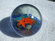 Crab With Pearl Treasure Murano Style Glass Paperweight 2 Lb