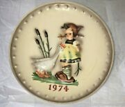 M. J. Hummel 4th Annual Collectors Plate - 1974 Girl With Goose
