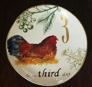 New Williams Sonoma 12 Days Of Christmas 2012 On The Third 3rd Day Salad Plate