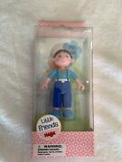 Haba Little Friends Matze - 4 Bendy Boy Doll Figure With Blue Overalls And Red