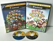 Super Monkey Ball 1 And 2 Nintendo Gamecube Bundle Puzzle Party Games Lot Tested
