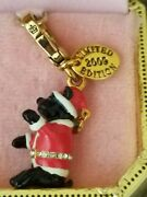 New Juicy Couture 2009 Limited Edition Yorkie Dog In Santa Costume Charm