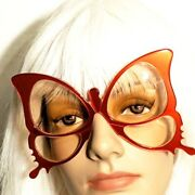 Anglo American Butterfly Red Sun/eyeglasses Frames Handmade England Vintage