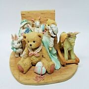 Cherished Teddies, Christopher, 950483, Bear With Toy Chest Figurine, 1991