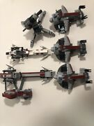 Lego Star Wars Clone Trooper Speeder And Canon Lot - No Minifigures