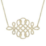 3/5 Ct Round Cut Simulated Solid 14k Yellow Gold Infinity Pendant Necklace