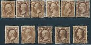 O72-o82 F/vf Treasury Set Unused The Rest Og Hr 15andcent Small Thin Cv 2030 Hv2690