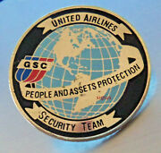 United Airlines Ua Collectible Ground Security Team Lapel Pingood Used Cond.