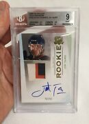2009 Upper Deck The Cup 180 John Tavares Rc Rookie Auto Patch Rpa Bgs 9 W 9.5