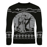 Nightmare Before Christmas Pullover Ugly Christmas Sweater - Seriously Spooky