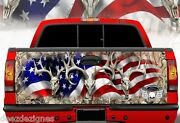 Tailgate Wrap American Flag Skull Camo Camouflage Truck Graphics Ab-003tg