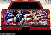 Tailgate Wrap American Flag Pink Camouflage Truck Graphics Ab-010tg